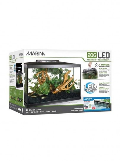 Aquario Marina 20G LED Kit 75L 61x32x42 c/filtro Slim 20